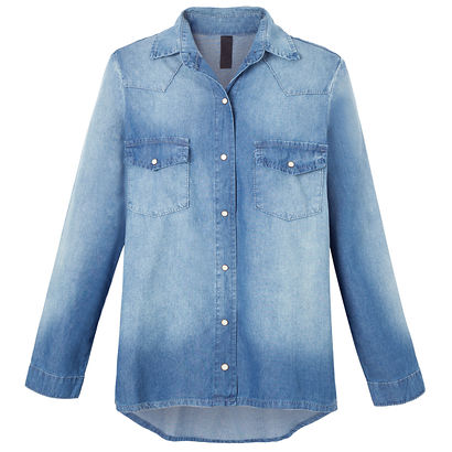 Camisa jeans FYI boy rock - azul