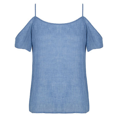 Blusa ombro a ombro jeans soft Market 33
