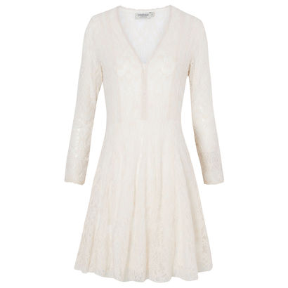 Vestido renda imperial off white