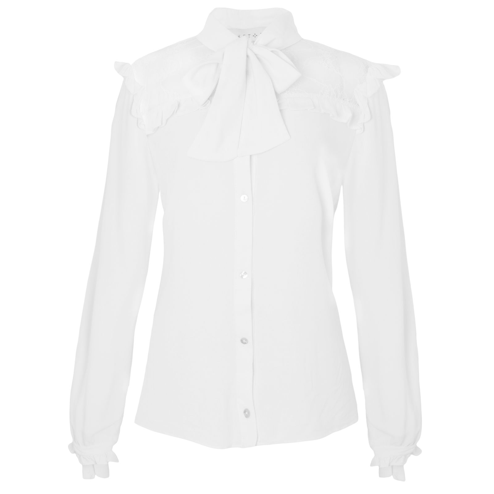 Camisa renda realeza off white