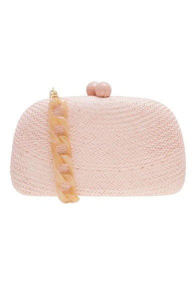 Clutch palha Mia rose