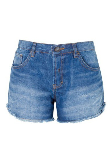 Short jeans lateral azul